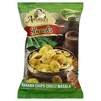 Amma\'s Kitchen Chilli Masala Dried Banana Chips - 200 grams: Amazon ...