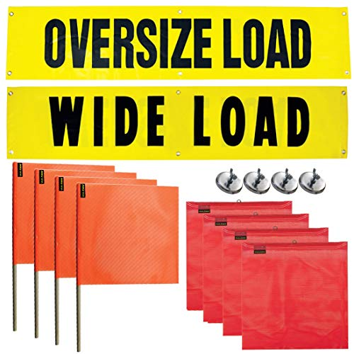 Sign Flag And Banner - Vulcan Reversible Wide/Oversize Load Banners, Flags, and Magnets Kit