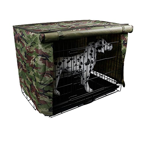 (Spring Fever Multi Sizes Pet Kennel Covers Dustproof Windbreak for Dog Crates Green S(18.111.814.5inch))