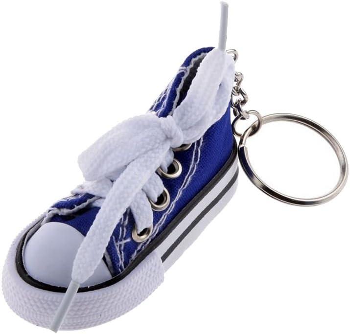 R Porte-cles Mode Pendentif Chaussure en Toile et Plastique Porte-cles Cadeau Bleu Clair SODIAL