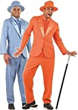 Couples Mens Dumb AND Dumber 1990s Decades Film Jim Carey Jeff Daniels TV Stag Do Fancy Dress Costumes Outfit (Orange Suit M & Blue Suit L) by Fancy Me