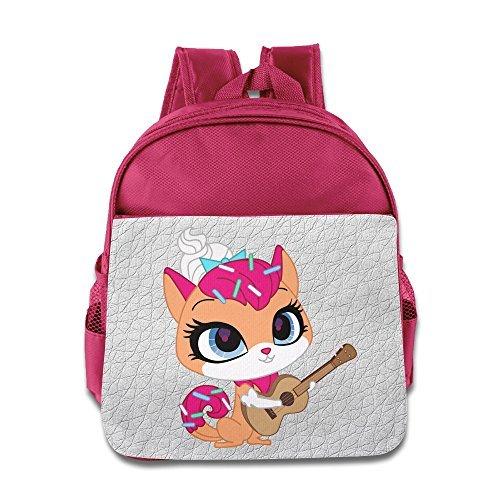 Littlest Pet Shop Toy Backpack Children School Bags Pink