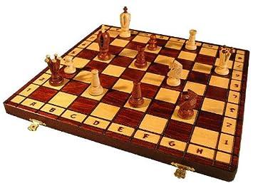 Holz Neu Schach; Schachspiel Chess Kings 36 x 36 cm