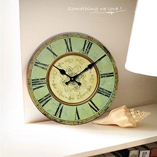 LOVE(TM)14inch Wooden Clock Shabby Chic Retro Roman Numeral