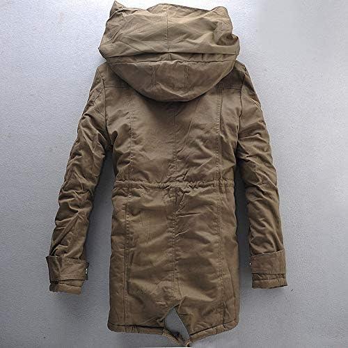 Ptyhk RG Men Big And Tall Fleece Hoodies Padded Coat Outdoor Parka Outwear