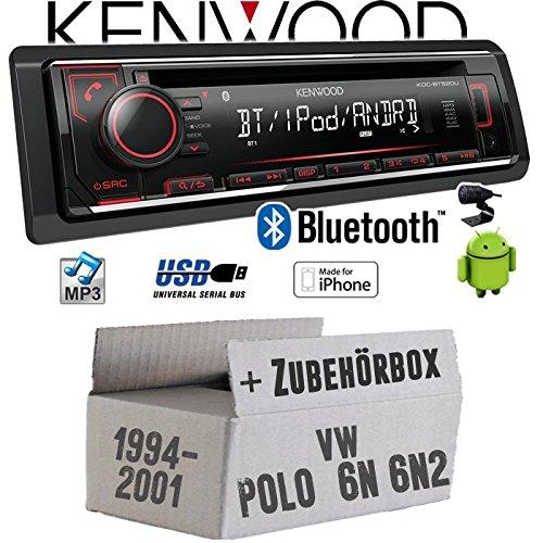 VW Polo 6N + 6N2 - Autoradio Radio Kenwood KDC-BT520U - Bluetooth CD/MP3/USB - Einbauzubehö r - Einbauset JUST SOUND best choice for caraudio VWPo6N_KDC-BT520U