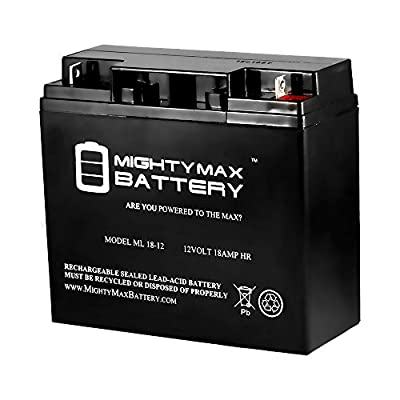 Best Cheap Deal for ML18-12 - 12V 18AH CB19-12 SLA AGM Rechargeable Deep Cycle Replacement Battery - Mighty Max Battery brand product from Mighty Max Battery - Free 2 Day Shipping Available