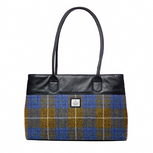 Tote Brown Tweed Ladies Genuine Genuine Check Harris Handbag Harris qx0HX7xtw