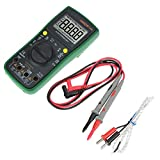 Akozon Digital Multimeter ANENG AN882B DC/AC Voltage Current Resistance Meter- True-RMS Auto-Ranging -Temperature Measurement-18 Test Probe Alligator Clip Test Leads(Green)