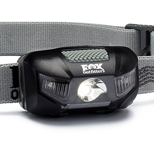 Firefly LED Headlamp – 115 Max Lumens, Super Wide Angle Beam. Waterproof Design with Red Night Vision and CREE LEDs. Energizer Batteries Included