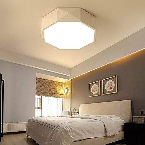 - Yomped Geometric Dome Light Round Nordic Creative Bedroom Light Modern Simple Led Room Light Balcony Warm Small Bedroom Book Room,51Cm Dichroic Segmentation