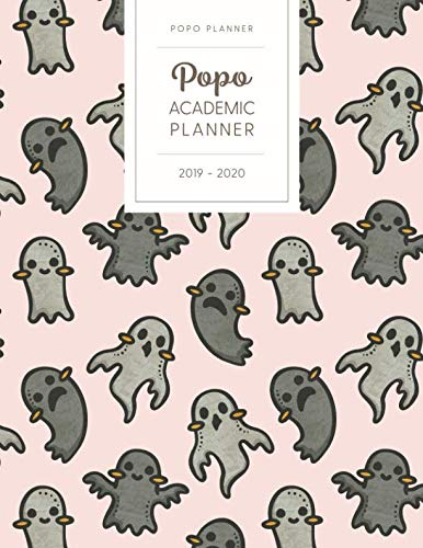 Kawaii Halloween Ghost (Popo Academic Planner 2019-2020: Monthly Weekly Daily - Dated With Todo Notes - Spooky Ghosts (July 2019 to June 2020 Calendar Year Cute)
