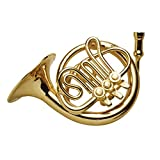 BROADWAY GIFTS Women's Miniature Musical Instrument Lapel Pins - Velvet Lined Case - French Horn