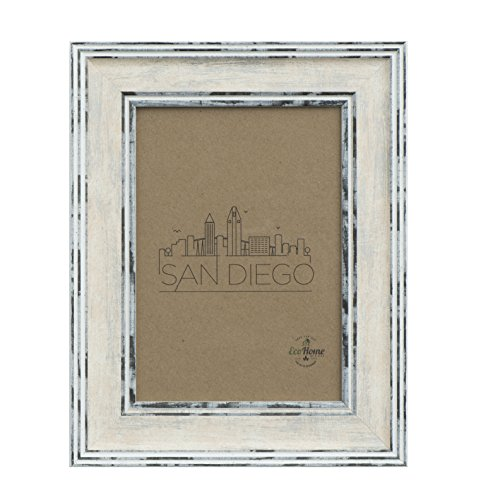 8x10 Picture Frame Distressed Cream - Mount Desktop Display, Frames by EcoHome