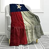 """Jekeno Texas Flag Throw Blanket Comfort Warmth Blanket for Couch Bed Chair Office Sofa 50""""x60"""""""