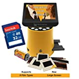 """Wolverine Titan 8-in-1 20MP High Resolution Film to Digital Converter with 4.3"""" Screen and HDMI Output, Worldwide Voltage 110V/240V AC Adapter & 32GB SD Card (Bundle)"""