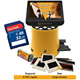"Wolverine Titan 8-in-1 20MP High Resolution Film to Digital Converter with 4.3"" Screen and HDMI output, Worldwide Voltage 110V/240V AC Adapter & 32GB SD Card (Bundle)"