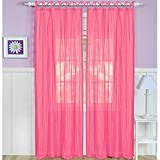 Elrene Home Greta Crushed Sheer Panel 50″ x 84″ Pink – Single panel only For Sale