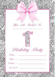Birthday girl invitation pad 20 sheets amazon toys games baby girls 1st birthday party invitations 10 pack stopboris Image collections