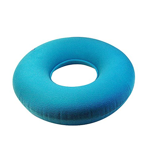 ixaer Round Seat Cushion-Inflatable Vinyl Ring Round Seat Cushion Medical Hemorrhoid Pillow Donut by ixaer