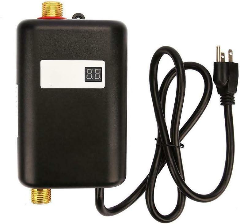 سخان مياه كهربائي للحمام والمطبخ 3800 واط من اليكيف، بدون خزان، صغير الحجم، تسخين فوري