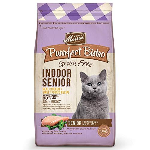 Merrick Purrfect Bistro Grain Free Healthy Indoor Senior Dry Cat Food, 7 Lbs.