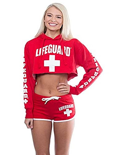 e09cd2362c20ab Amazon.com  LIFEGUARD Official Cropped Hoodie Long Sleeve Pullover for  Women.  Sports   Outdoors