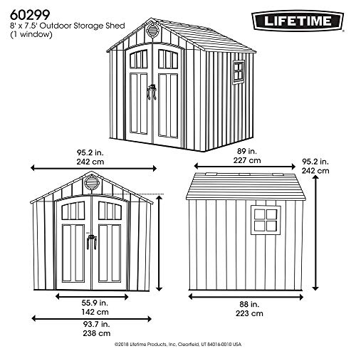 lifetime outdoor shed 8x12.5 review