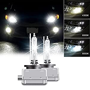RCP - D1S6 - (A Pair) D1S/D1R 6000K Xenon HID Replacement Bulb Diamond White Metal Stents Base 12V Car Headlight Lamps Head Lights 35W