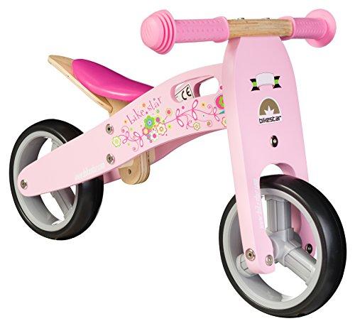 BIKESTAR-178cm-7-pulgadas-Bicicleta-sin-pedales-para-los-mas-pequeos-de-la-casa-a-partir-de-18-meses--Edicin-de-madera-natural--Rosa