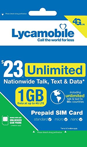 Pda Sim Phone Free (1ST MONTH FREE LYCA MOBILE Preloaded SIM with $23 Plan With International Call)