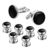 #1: Jstyle Mens Cufflinks and Studs Set Tuxedo Shirts Business Wedding