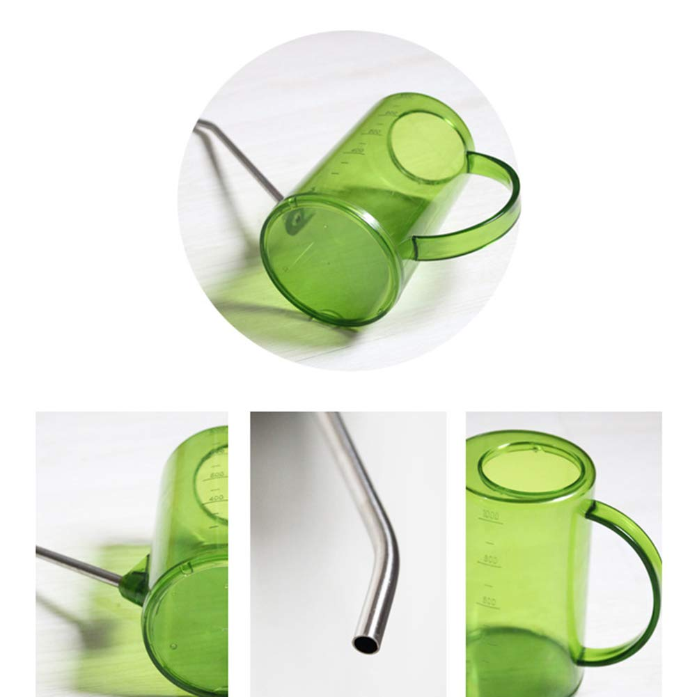 Black ZAILHWK Plastic Watering Can Long Mouth Watering Pot Indoor Mini Watering Pot Long Spout Plastic Small Watering Can with Stainless Steel Mouth Garden Plants Tool for Plant Flower