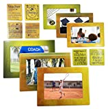 Gift for Teacher 12 Piece Magnetic Picture Frames and Refrigerator Magnets with Inspirational Quotes Photo Collage by Sheen for 5x7 4x6 3.5x5 2.5x3 Wallet - Teacher Gift - Teacher Appreciation Gift