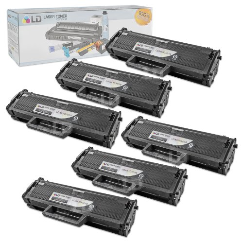 (LD Compatible Toner Cartridge Replacement for Samsung MLT-D101S (Black, 6-Pack))