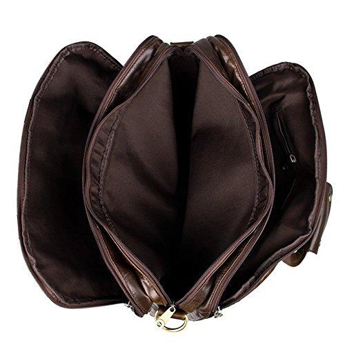 marrón marrón hombro Everdoss hombre para al oscuro talla oscuro Marrón Bolso FWqEYz