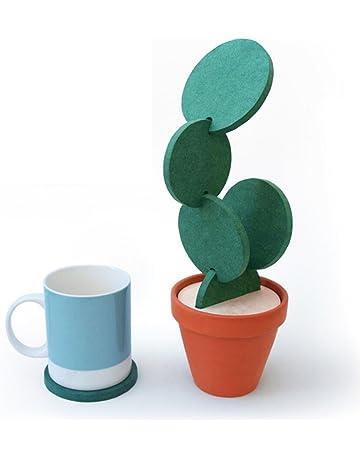 Amaoma Práctico de Costa de Cactus, 6 Pieza Creativa DIY Cactus Coaster Posavasos Tea Mat