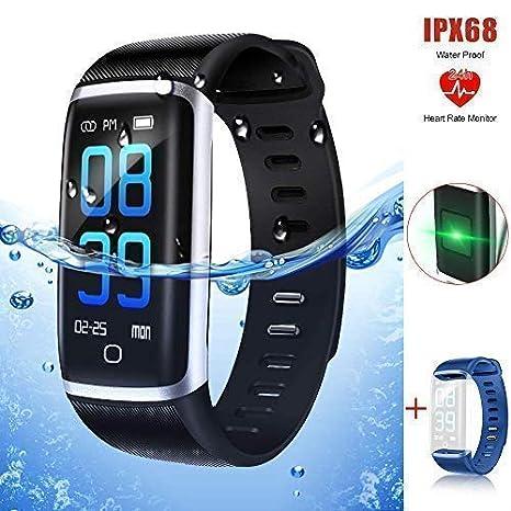 Pulsera Actividad, Reloj deportivo Inteligente Fitness Tracker con Monitor de Ritmo Cardíaco las 24 Horas