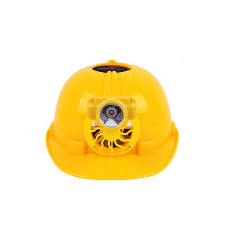 jaune  ZHANGXLMM Lampe Rechargeable Casque De Ventilateur Multi-usages Casque Site Casque Anti-avoitureiens Solaire De Sécurité Minière Cap,jaune
