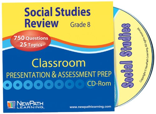 NewPath Learning Social Studies Interactive Whiteboard CD-ROM, Site License, Grade 8-10