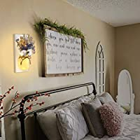 Amazon Com Mason Jar Sconces Wall Decor Rustic Wall Sconces Decorative Jars With Cotton Stems Baby Breath Flower With Remote Timer Led Fairy Lights For Kitchen Home Decor Living Room