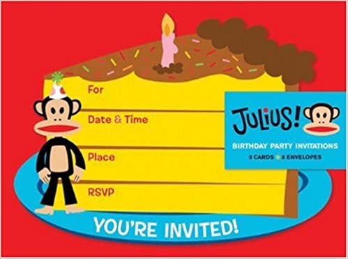 Birthday Party Invitations Paul Frank Industries 9780811874366 Amazon Books