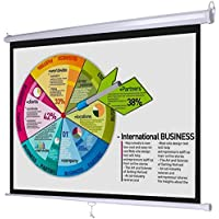 GHP 57x43 Matte White Screen 4:3 Manual Pull Down Wall/Ceiling Projection Screen