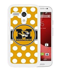 Custom Southeastern Conference SEC Football Missouri Tigers 01 White Motorola Moto G Screen Cellphone Case Unique and Fashion Look