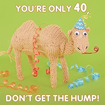 Amazon Knit Purl Birthday Card Youre Only 40 Dont Get