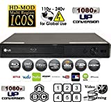 Re-furbished LG BPM25 multi system all zone regionfree blu ray DVD player, 6 foot hdmi cable and eu plug adapter bundle