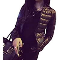Ocamo Women Winter Down Jacket Warm Short Slim Fit Thickened Down Coat Outwear Top