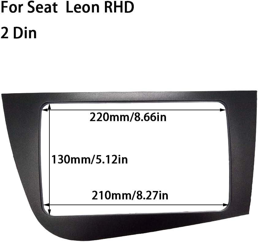 droite CT-CARID Fa/çade dautoradio pour Sea TLeon Roue droite droite Kit dinstallation plaque de fa/çade Cadre de panneau