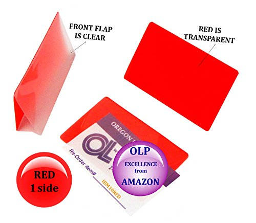 Oregon Lamination Hot Laminating Pouches IBM Card (pack of 300) 10 mil 2-5/16 x 3-1/4 Red/Clear by Oregon Lamination Premium