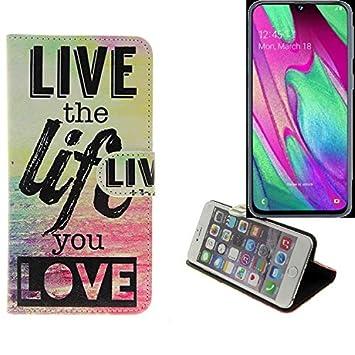 K-S-Trade® 360° Funda Smartphone para Samsung Galaxy A40, Live The ...